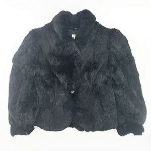 Jackets & Blazers - Fur Coat Rabbit Small Black Vintage Sexy